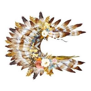 "8"" Autumn Love Floral Headdress - 90 Degrees"