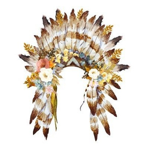 "8"" Autumn Love Floral Headdress - White"