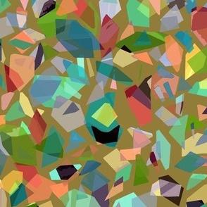 broken glass on peridot