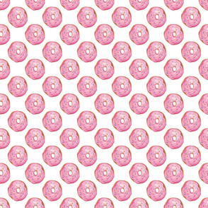 Pink donuts on white, small