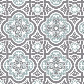 8inch-tile Spanish Tile Blue Grey