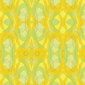 Midcentury Endpaper Green Background-01