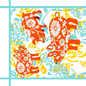 chrysanthia gold_blue and red pigs2