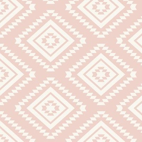 Aztec - H White, Blush Pink