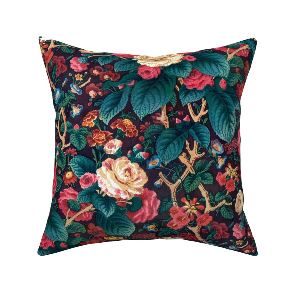 Catalan Throw Pillow featuring Annabelle-holiday color by incognitoshop