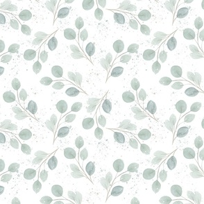 Blue Berries and Leaves Pantone Color of the year 2020