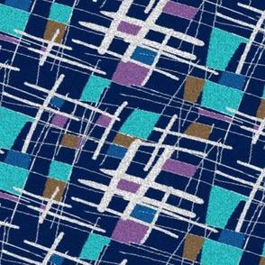 Barkcloth blue