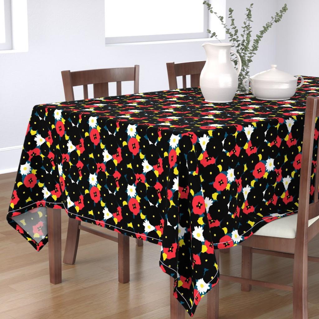 Bantam Rectangular Tablecloth featuring Minimalist Autumn Floral by elliottdesignfactory