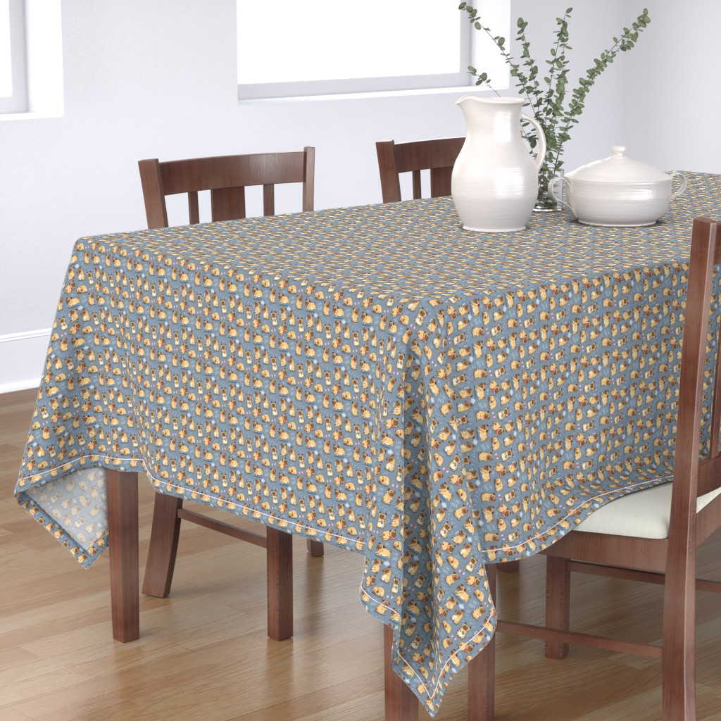 Bantam Rectangular Tablecloth featuring Cutest pugs by penguinhouse