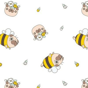 pug bee in white