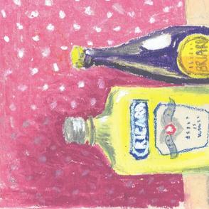 Vintage drinks still life
