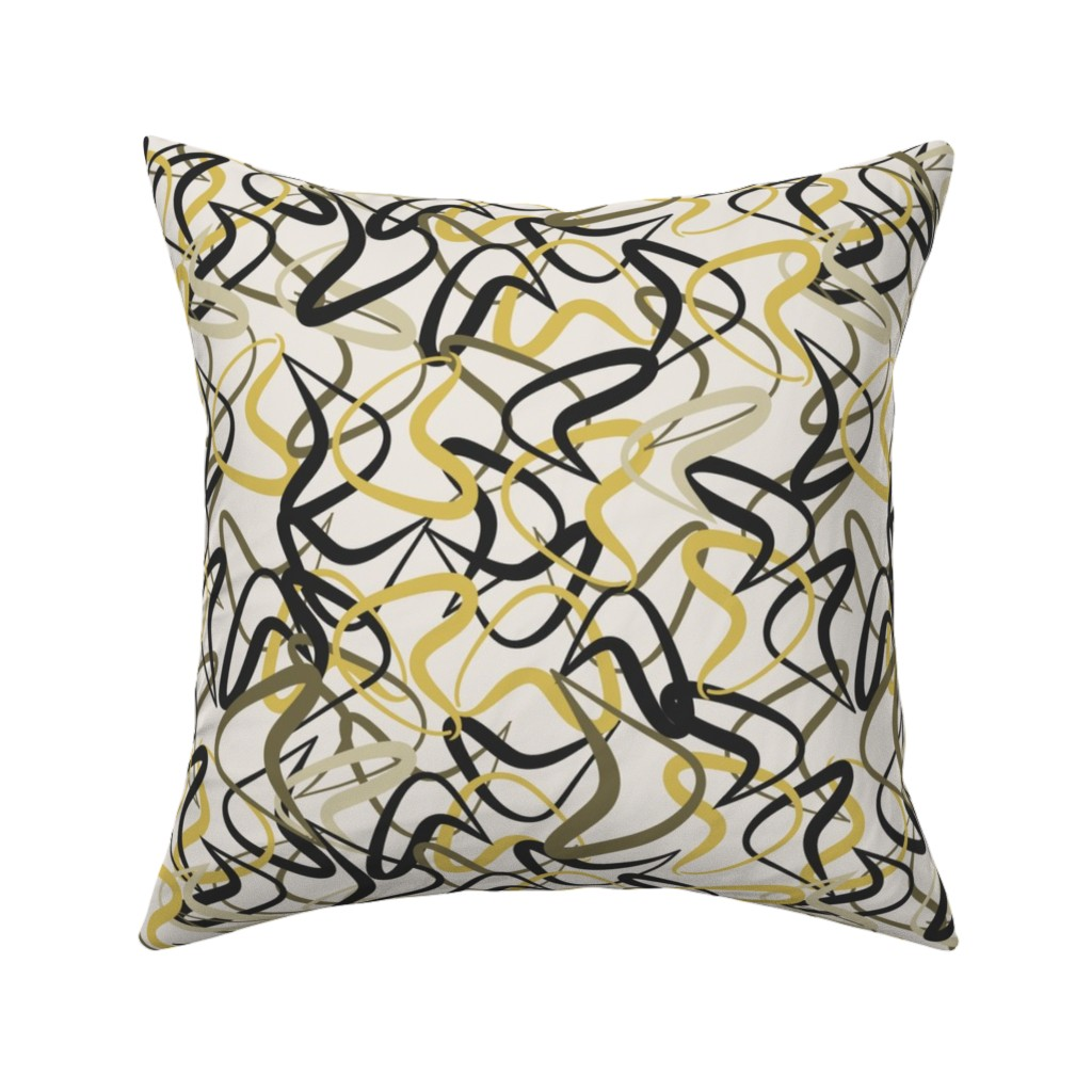 Catalan Throw Pillow featuring Mid-Century Modern Boomerangs mcm2 by cherie