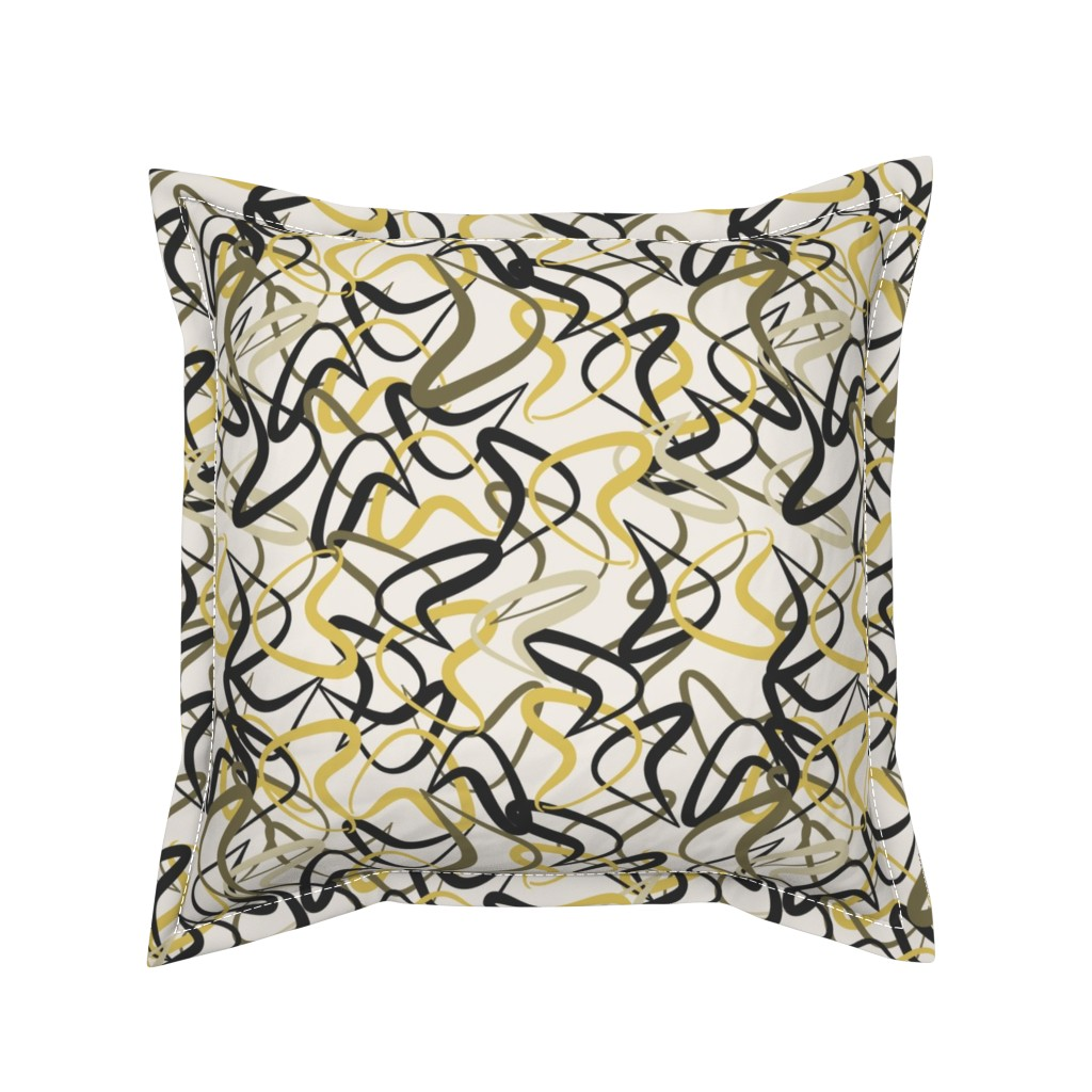Serama Throw Pillow featuring Mid-Century Modern Boomerangs mcm2 by cherie