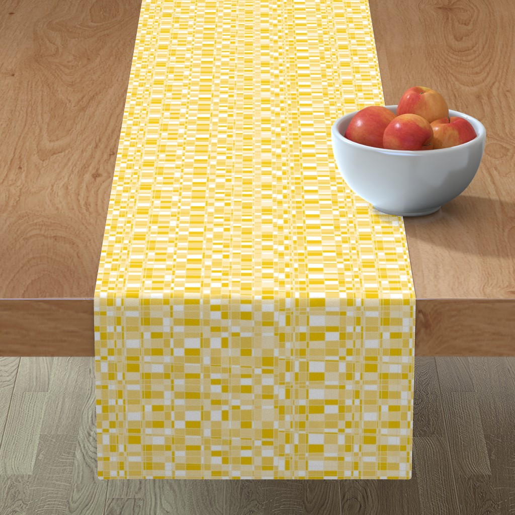 Minorca Table Runner featuring Mod Gingham - Yellow by autumn_musick