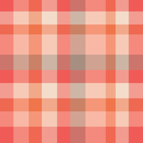 Modern Plaid - Pink Gray