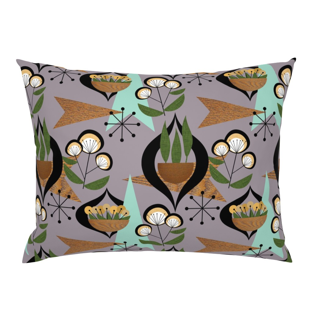 Campine Pillow Sham featuring Mid Century Plants - mcm7a by cherie