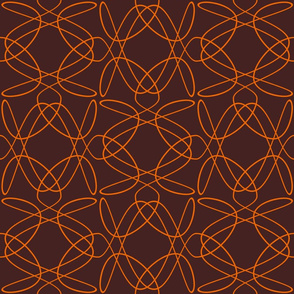 Tangly Lines - U - Orange