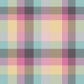 Modern Plaid - Blue Yellow Pink