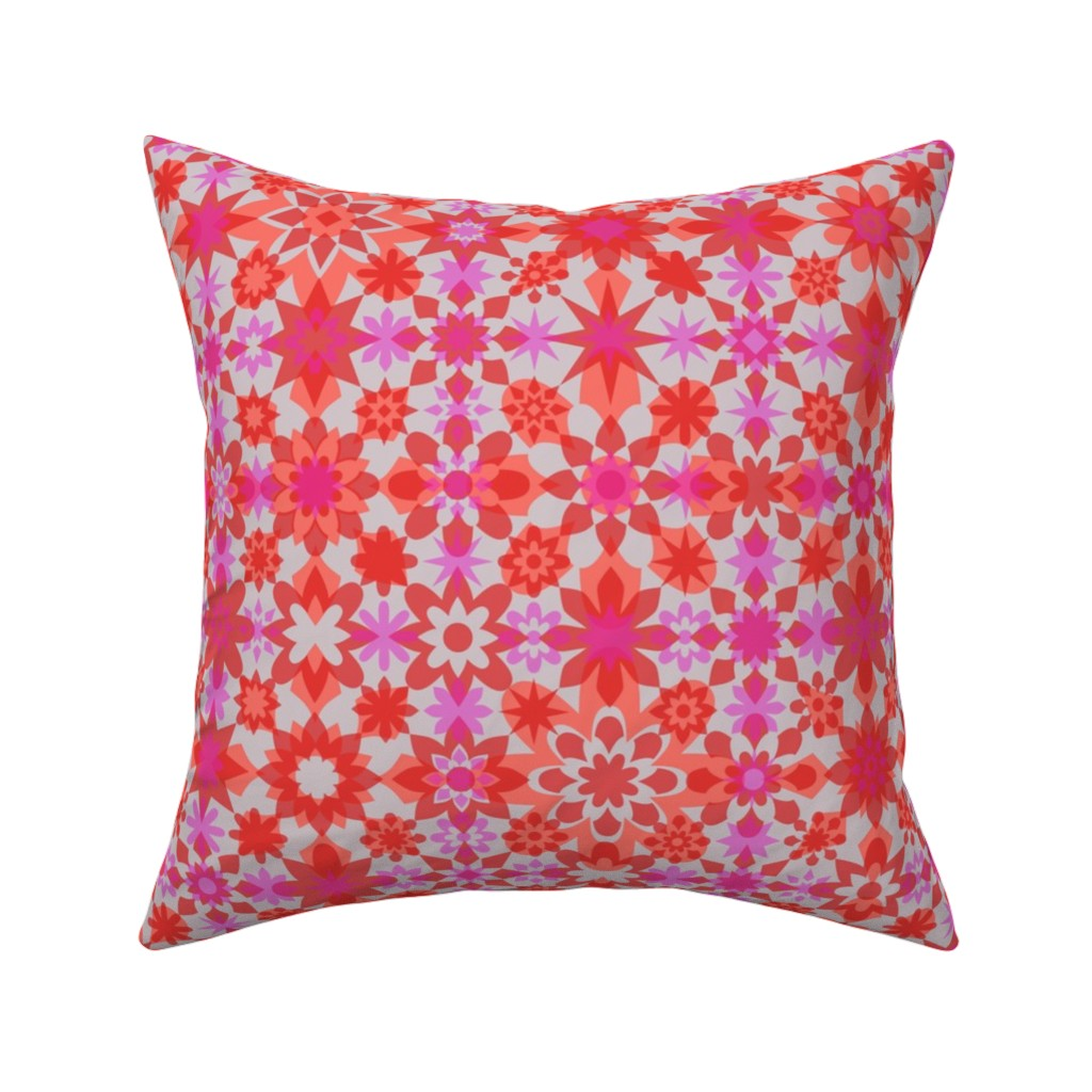 Catalan Throw Pillow featuring Floral Stars by zuzana_licko
