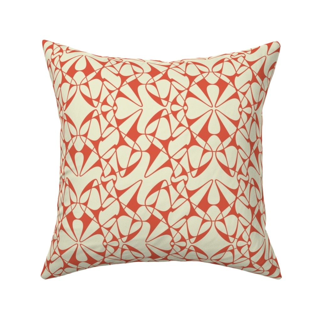 Catalan Throw Pillow featuring Tangly Splines - WX - Orange by zuzana_licko