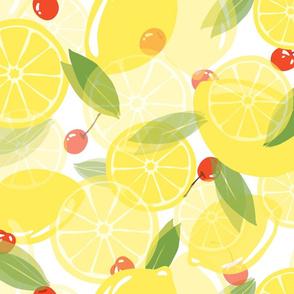 Lemons and Cherries - White