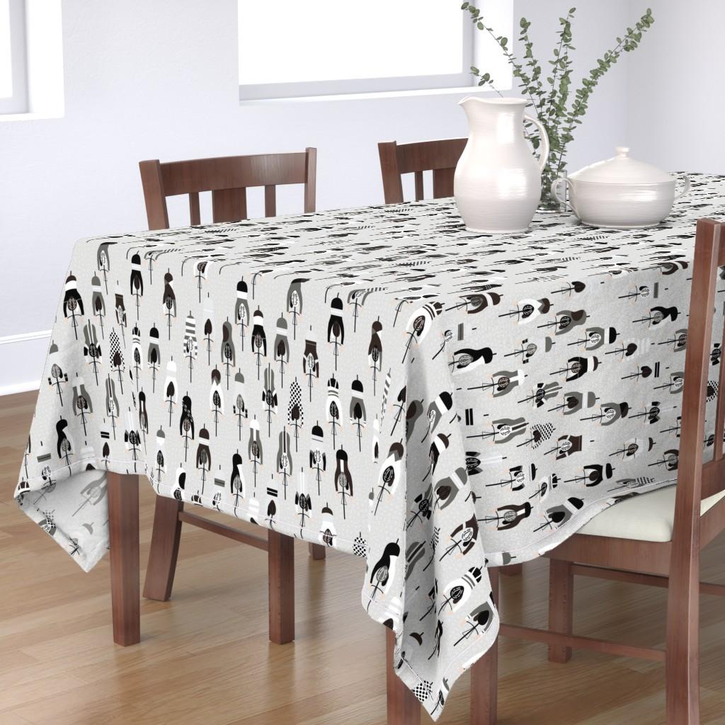 Bantam Rectangular Tablecloth featuring le tour - monochrome by booboo_collective