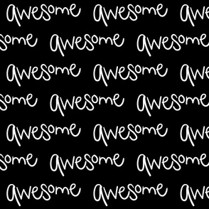 awesome inverted :: marker doodles black and white monochrome typography