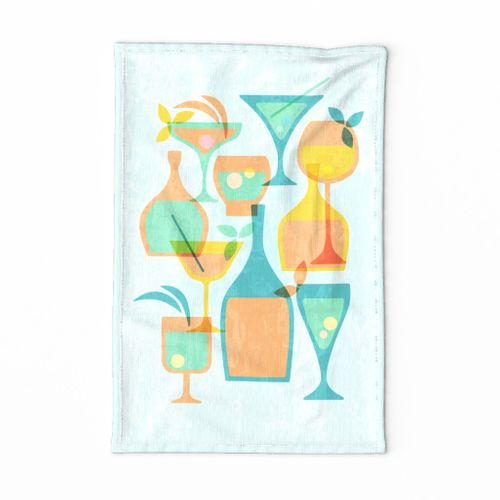 retro cocktail towel