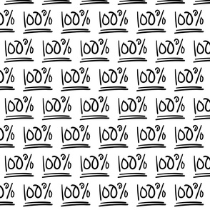 100% :: marker doodles black and white monochrome typography