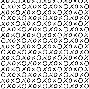 xoxo hugs and kisses :: marker doodles black and white monochrome typography
