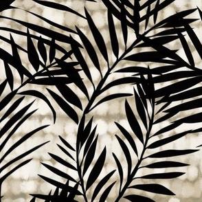 Palms on texture