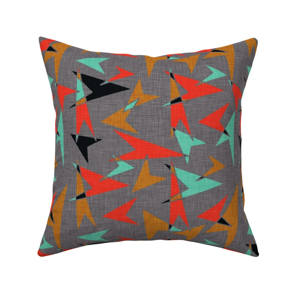 Catalan Throw Pillow featuring Mid Century Modern Arrows - mcm11 by cherie