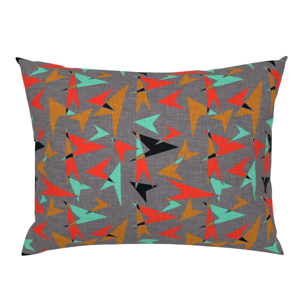 Campine Pillow Sham featuring Mid Century Modern Arrows - mcm11 by cherie
