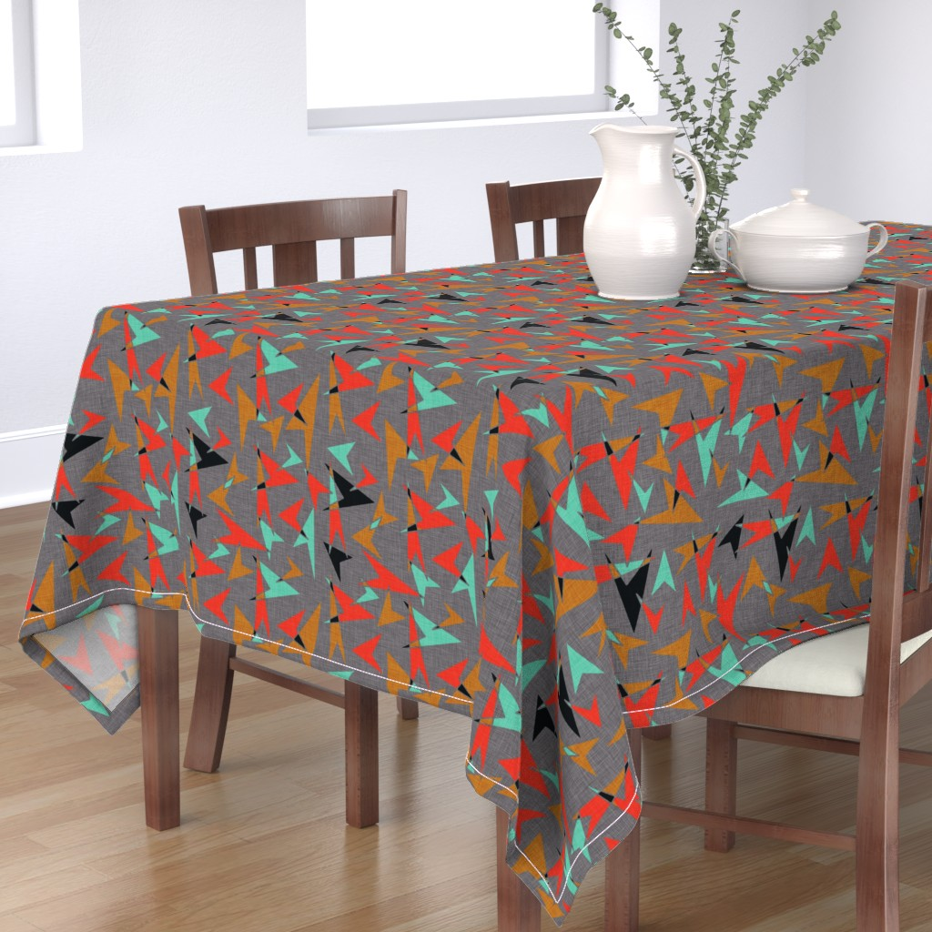 Bantam Rectangular Tablecloth featuring Mid Century Modern Arrows - mcm11 by cherie