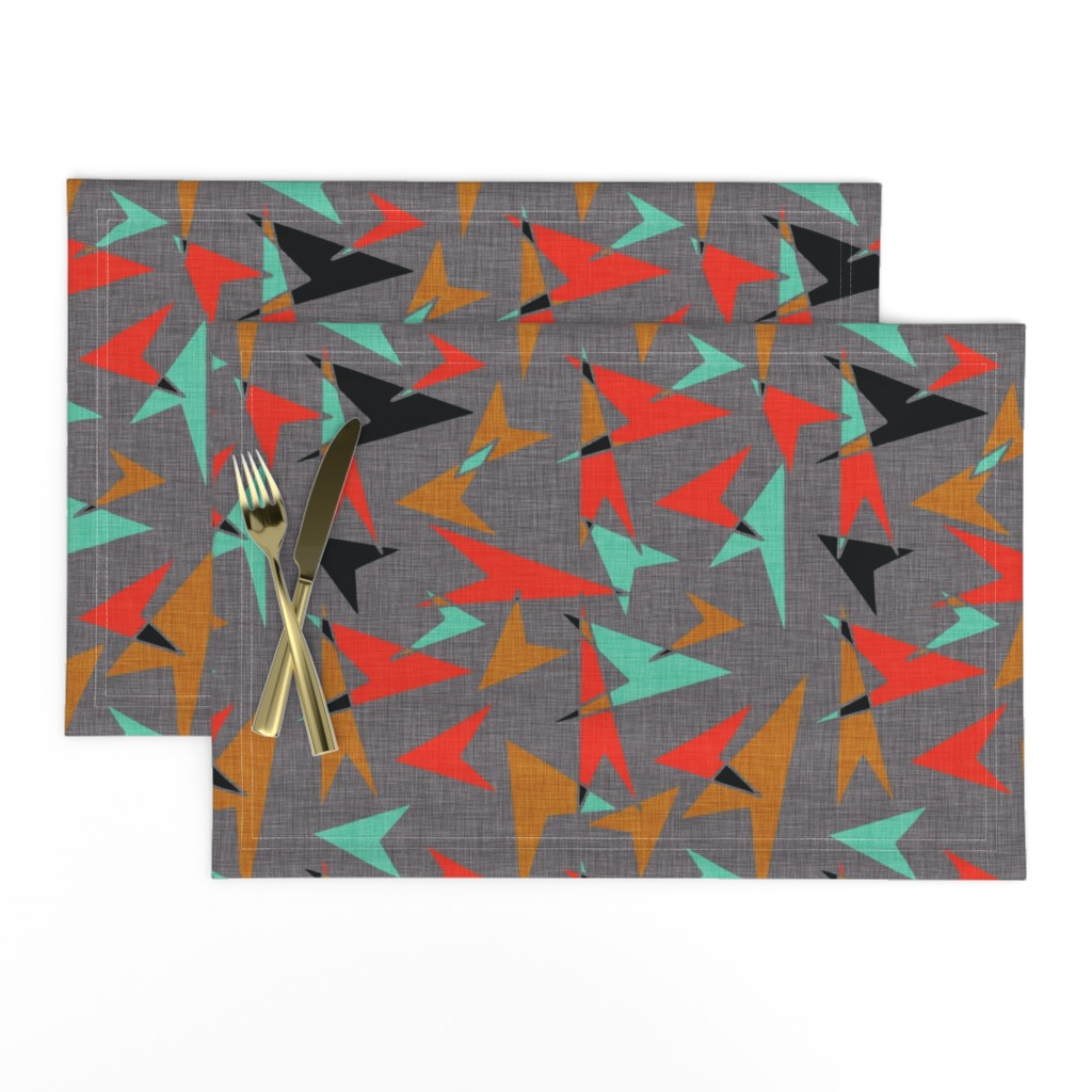 Lamona Cloth Placemats featuring Mid Century Modern Arrows - mcm11 by cherie