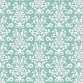 damask faded teal