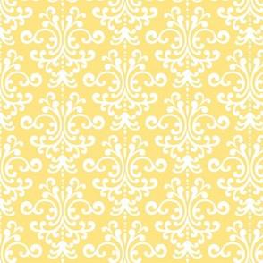 damask sunshine yellow