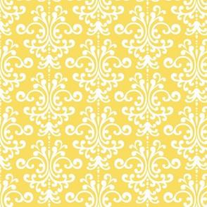 damask butter yellow