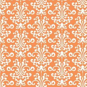 damask tangerine orange