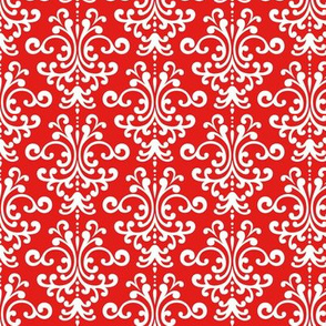 damask bright red