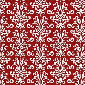 damask dark red