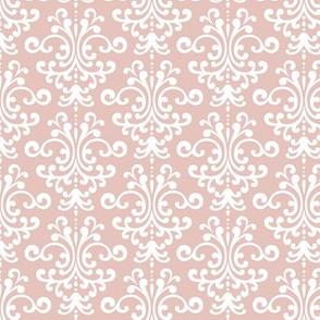 damask dusty pink