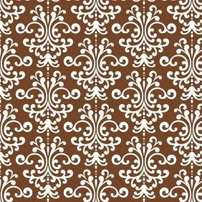damask chocolate brown