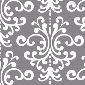 damask lg granite grey