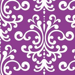 damask lg purple grape