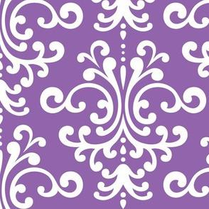 damask lg purple amethyst
