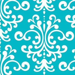 damask lg surfer blue