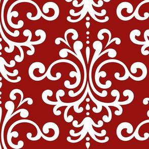 damask lg dark red