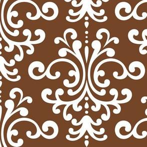 damask lg chocolate brown