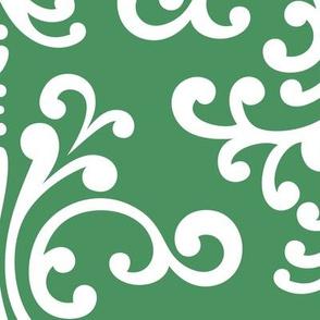 damask xl kelly green